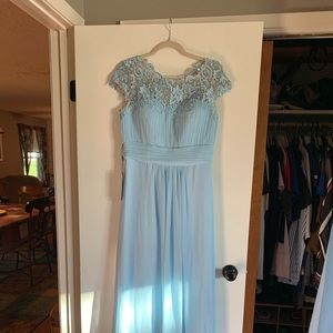 Bridesmaid dress, light blue, size 12, new